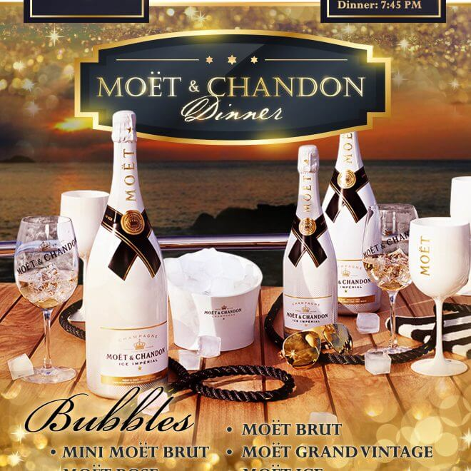 New date moet chandon dinner