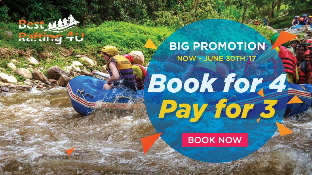 best rafting promotion 4 Pay 3 - 1